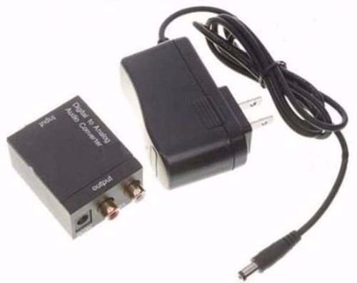 adaptador conversor ótico toslink e coaxial + cabo ótico