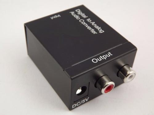 adaptador conversor otico toslink e coaxial digital + cabo