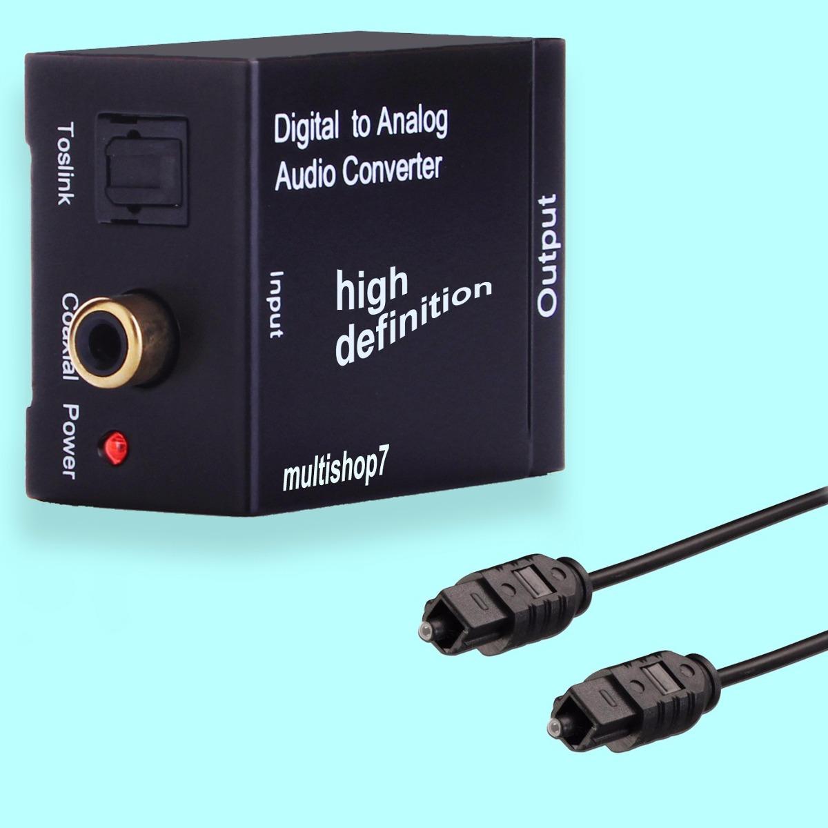 Adaptador Conversor 211 Tico Toslink E Coaxial Digital Para
