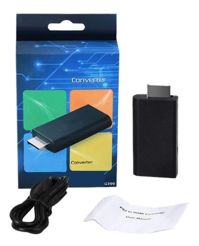 adaptador conversor ps2 p/ hdmi 720/1080p tv lcd e led