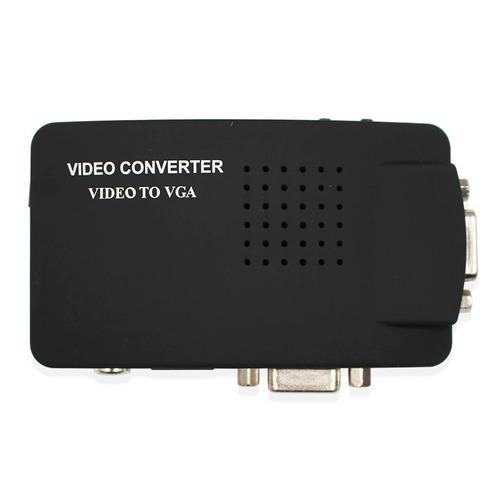 adaptador conversor transcoder rca s-video p/ monitor vga