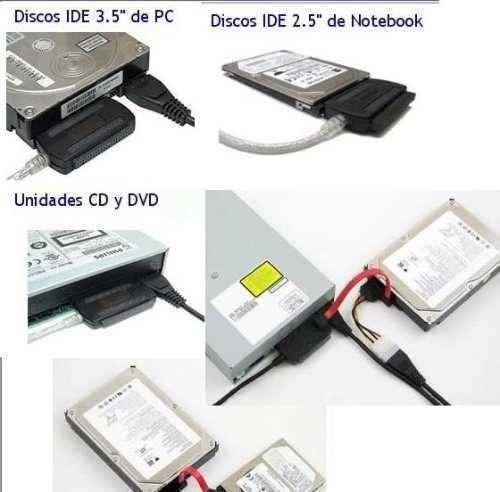 adaptador conversor usb 2.0 hd externo ide sata fonte l002ls