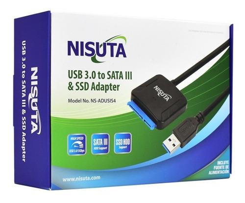 adaptador conversor usb 3.0 a sata ssd discos 2.5 3.5 fuente