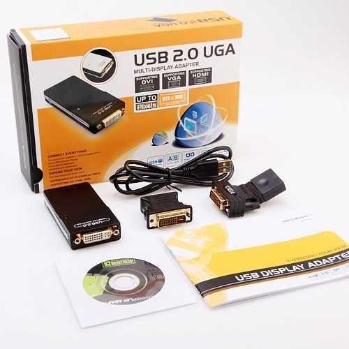 adaptador conversor usb a vga/dvi/hdmi multi pantalla 1080p
