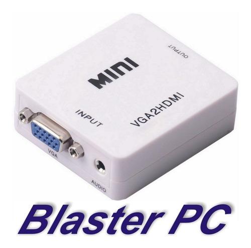 adaptador conversor vga a hdmi con audio zona alto rosario blaster pc