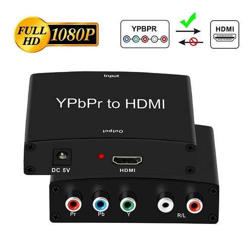 adaptador conversor video componente ypbpr a hdmi - fac a/b