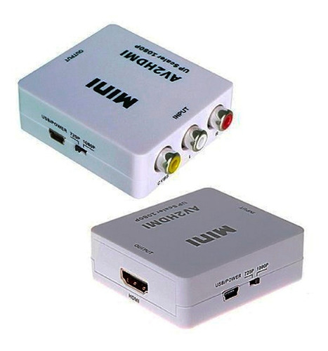 adaptador convertidor cable hdmi a av rca tv lcd  hdmi2av