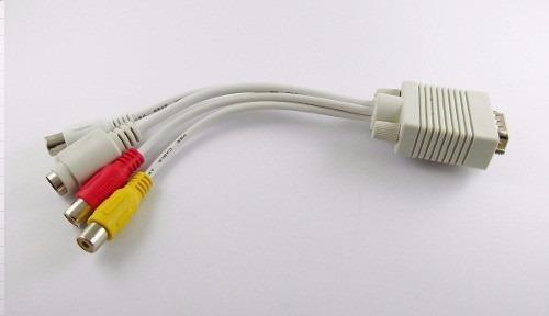 adaptador convertidor cable pc vga a s-video av rca tv out