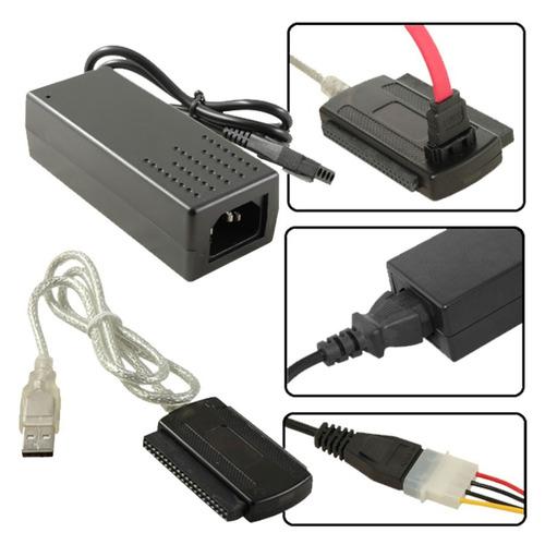 adaptador convertidor de ide sata a usb incluye accesorios