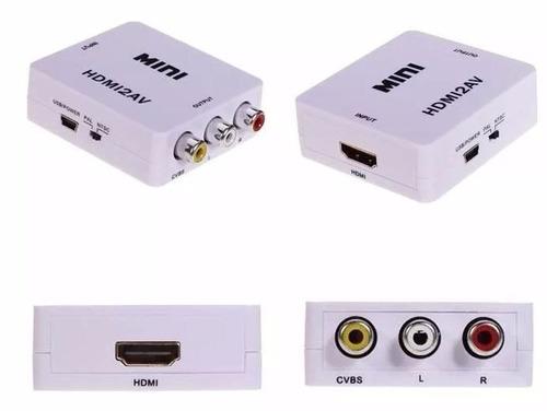 adaptador convertidor de señal hdmi a rca audio video