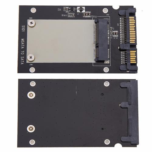 adaptador convertidor de ssd msata a disco sata de 2.5 pulg.