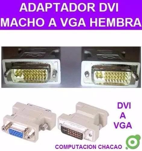 adaptador convertidor dvi 24+5pines macho a vga hembra15 ccc