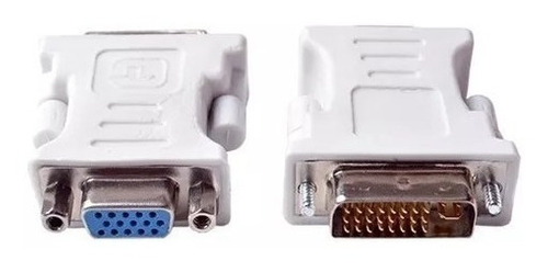 adaptador convertidor dvi-i a vga 24+5 pines a vga hembra x5