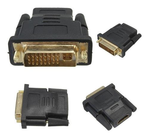 adaptador convertidor dvi macho (24 + 5) a hdmi hembra