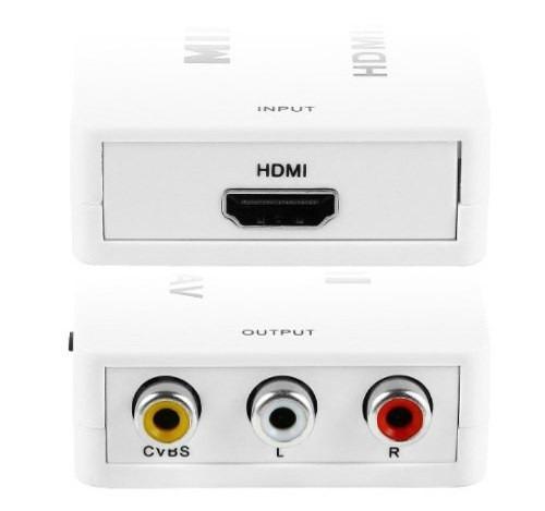 adaptador convertidor hdmi a audio video (av) rca tv viejo