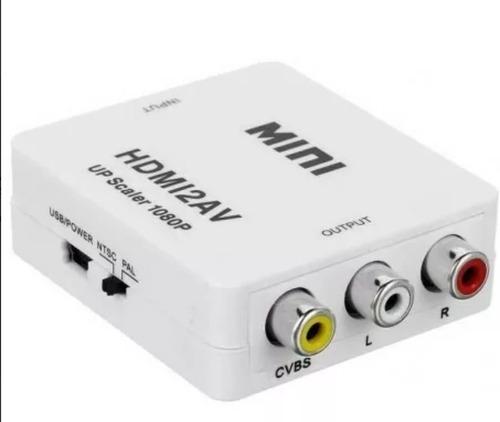 adaptador convertidor hdmi a rca video 720 1080 p