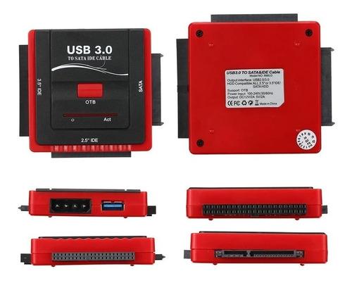 adaptador convertidor ide sata 3.5 2.5 a usb 3.0 y 2.0