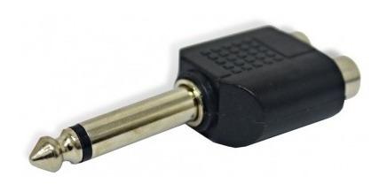 adaptador convertidor jack rca x 2 a plug 6.3 audio ecuador