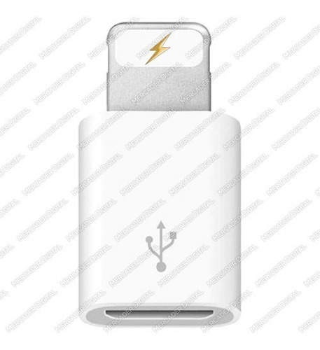adaptador convertidor micro usb a iphone ipad ipod