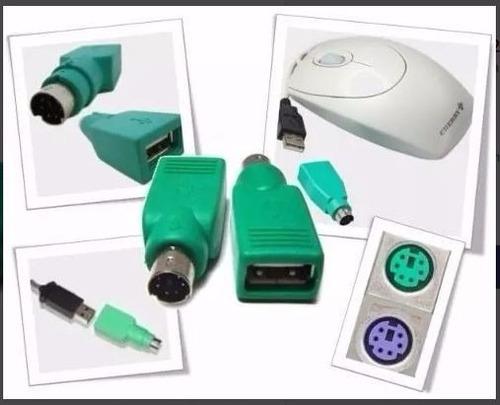 adaptador convertidor ps2 (macho) a usb tip a (hembra) mouse
