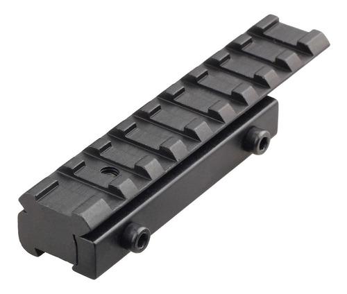 adaptador convertidor riel picatinny 11 a 20mm weaver 10cm