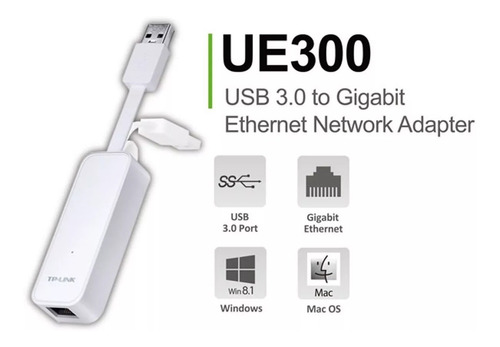 adaptador convertidor tp link de red gigabit rj45 a usb 3.0