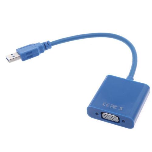 adaptador convertidor usb a vga laptop mac noteb tv pc juego