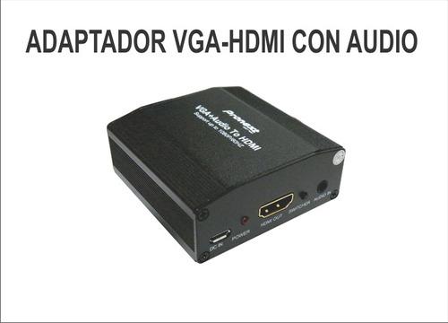 adaptador convertidor vga a hdmi con audio