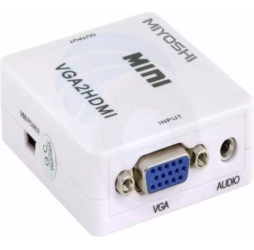 adaptador convertidor vga a hdmi con salida de audio
