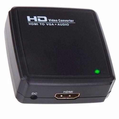 adaptador convertidor video hdmi a vga +audio full hd 1080p!
