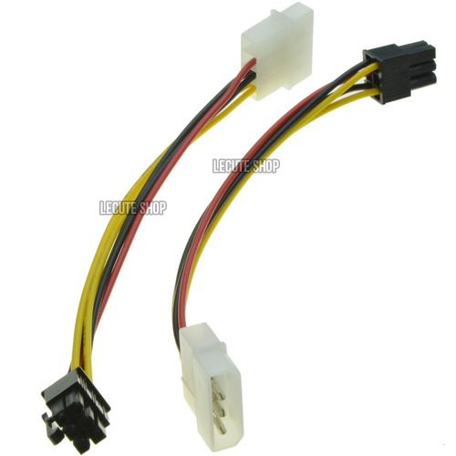 adaptador corriente dual molex a pcie 6pin tarjetas de video