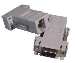 adaptador db9 hembra a rj45 hembra usado