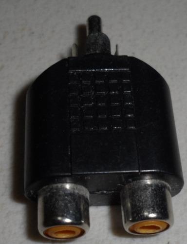 adaptador de 2 jacks hembra rca a plug macho rca env gratis