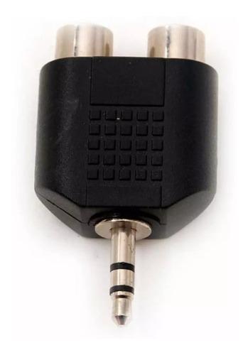 adaptador de 2 rca (h) a plug 3,5mm (m)  - ditron