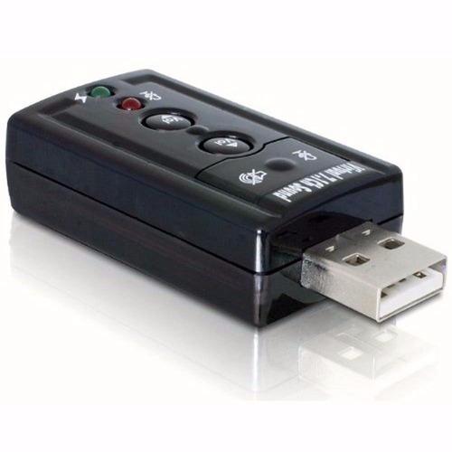 adaptador de 7.1 canales tarjeta de sonido externa usb-negro