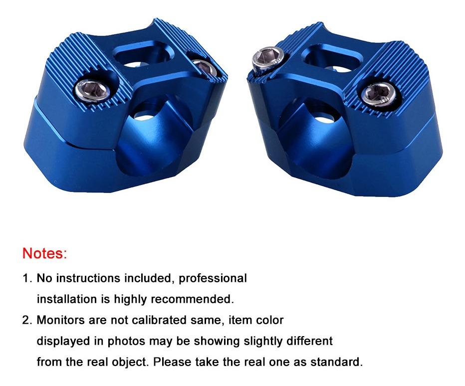 Elevador de manillar de motocicleta adaptador de extensi/ón de abrazadera de manillar con aluminio para cuarenta y ocho XL1200X negro