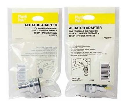 adaptador de aireador de grifo para lavavajillas plumb pak p