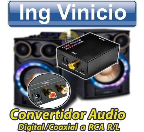 adaptador de audio digital/coaxial a rca para parlantes