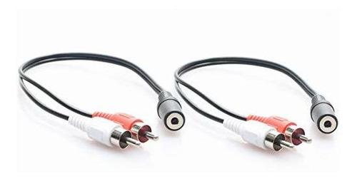 adaptador de audio estereo de 3,5 mm hembra a 2 rca macho,