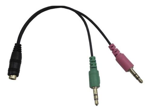 adaptador de audio jack 3.5 auricular y micrófono utiliza auriculares manos libres de celular tablet ps4 en pc notebook