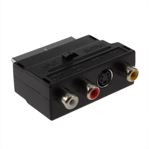 adaptador de audio rgb a rca compuesto svhs s-video av