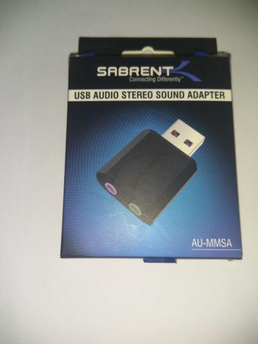 adaptador de audio sabrent mini