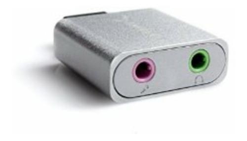adaptador de audio sonido externo windows mac aluminio