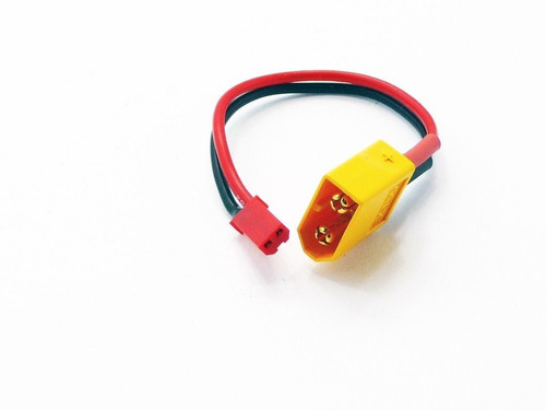 adaptador de bateria xt60 macho para jst fêmea