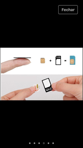 adaptador  de  chip  3 em 1  celular mini. micro e nano sim