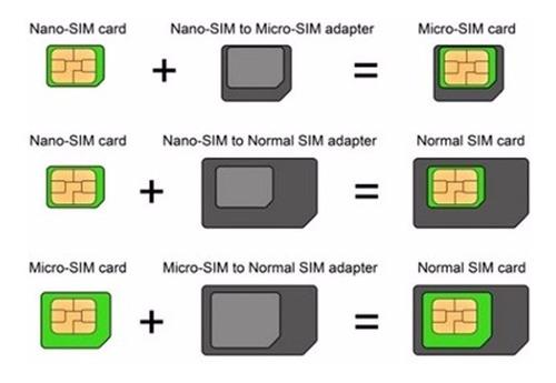 adaptador de chip noosy - nano chip / mini micro / sim card