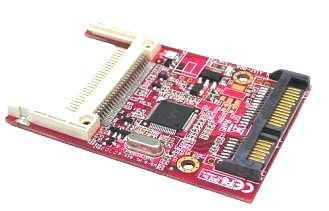 adaptador de compact flash cf a sata  factor de forma 2,5