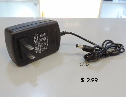 adaptador de corriente 110v a 12v de 2a y 5a