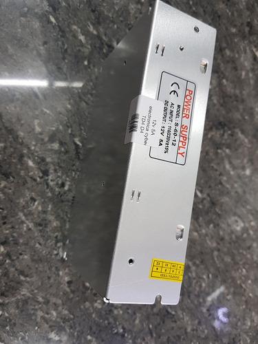 adaptador de corriente 12v 5a metalico sku4071