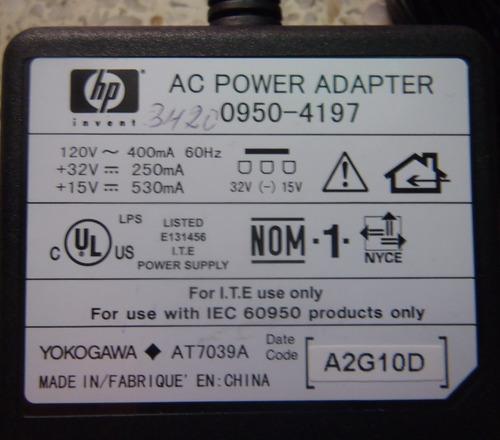 adaptador de corriente hp 0950-4197 fuente de poder